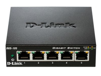 Switch Dlink 5-PORT 10/100/1000MBPS Metal Hous